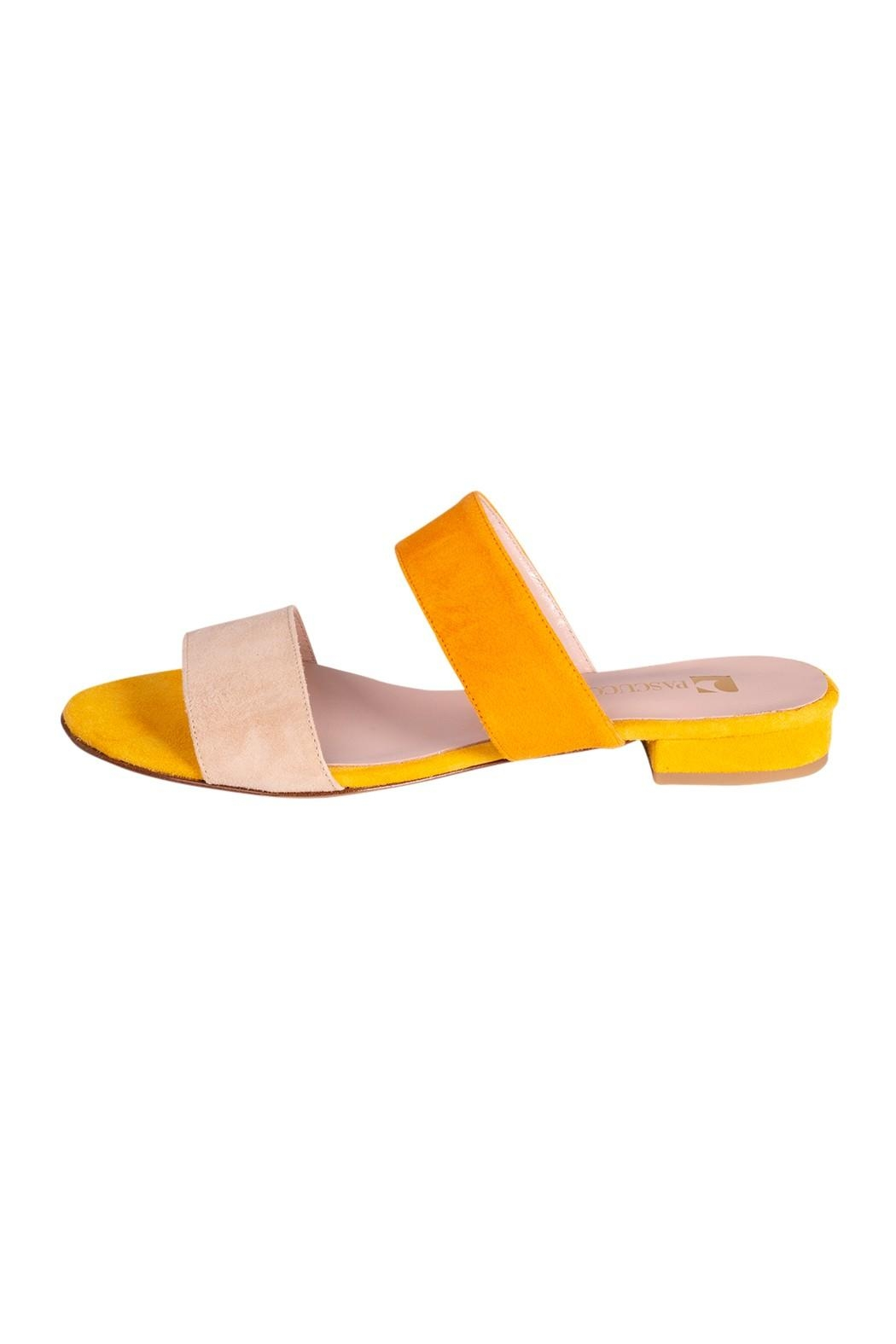 Pascucci Yellow Suede Slides - Main Image