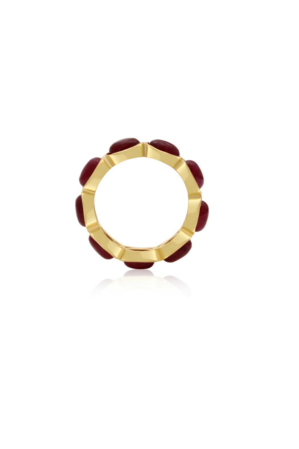 Passiana 10ct Ruby Ring - Side Cropped Image