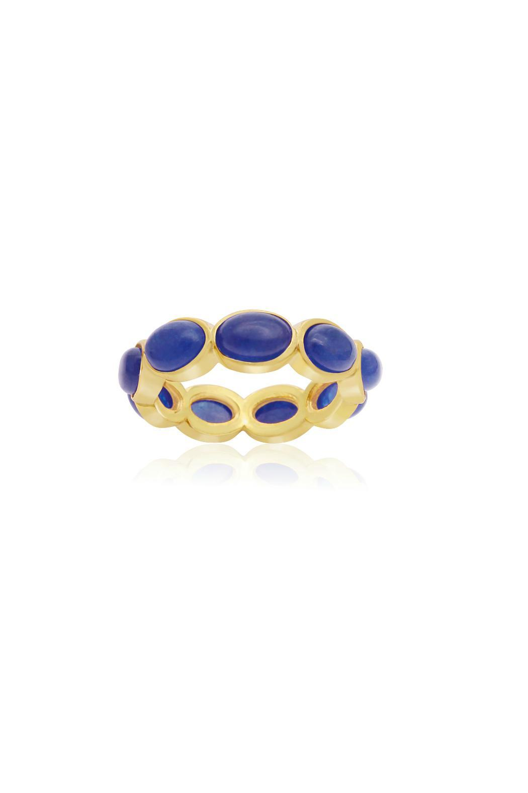 Passiana 10ct Sapphire Ring - Front Cropped Image