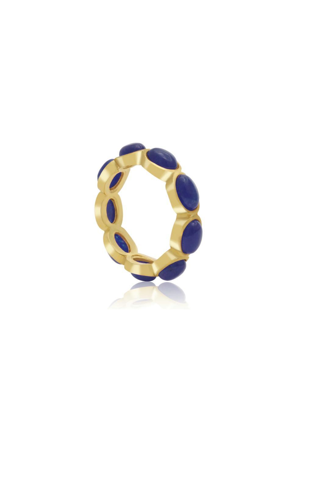 Passiana 10ct Sapphire Ring - Front Full Image