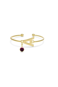 Passiana Amethyst Initial Bracelet - Product List Image