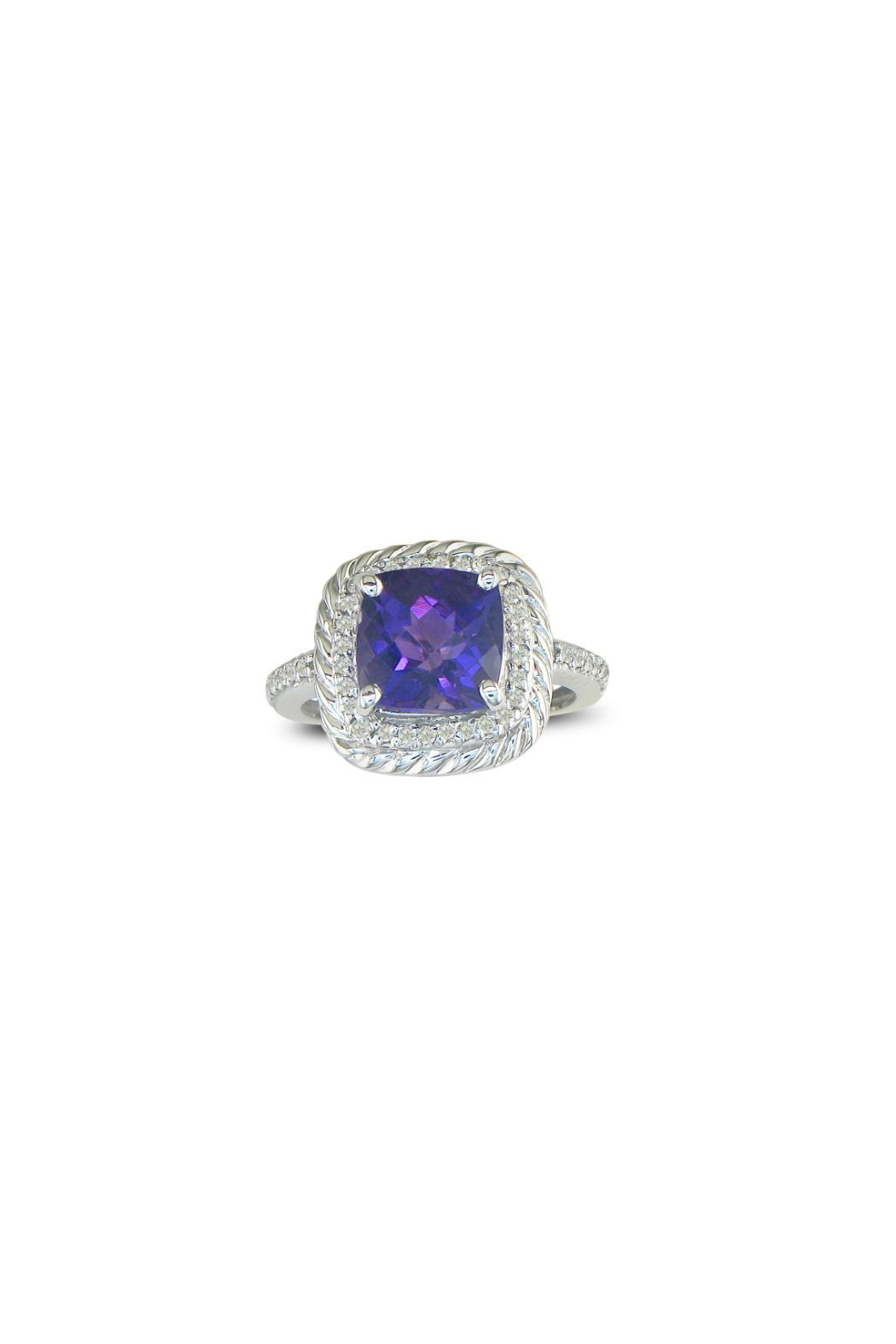 Passiana Amethyst Ropework Ring - Front Cropped Image