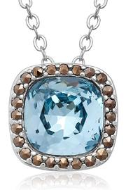 Passiana Aquamarine Halo Necklace - Product Mini Image