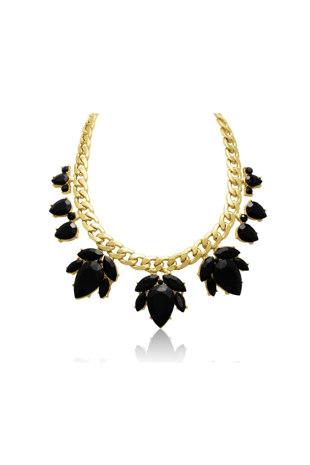 Passiana Black Floral Necklace - Main Image