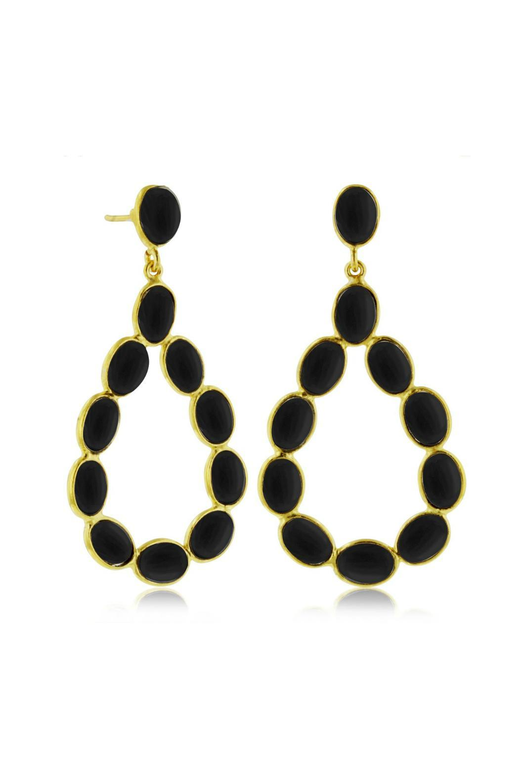 Passiana Black Onyx Earrings - Front Cropped Image