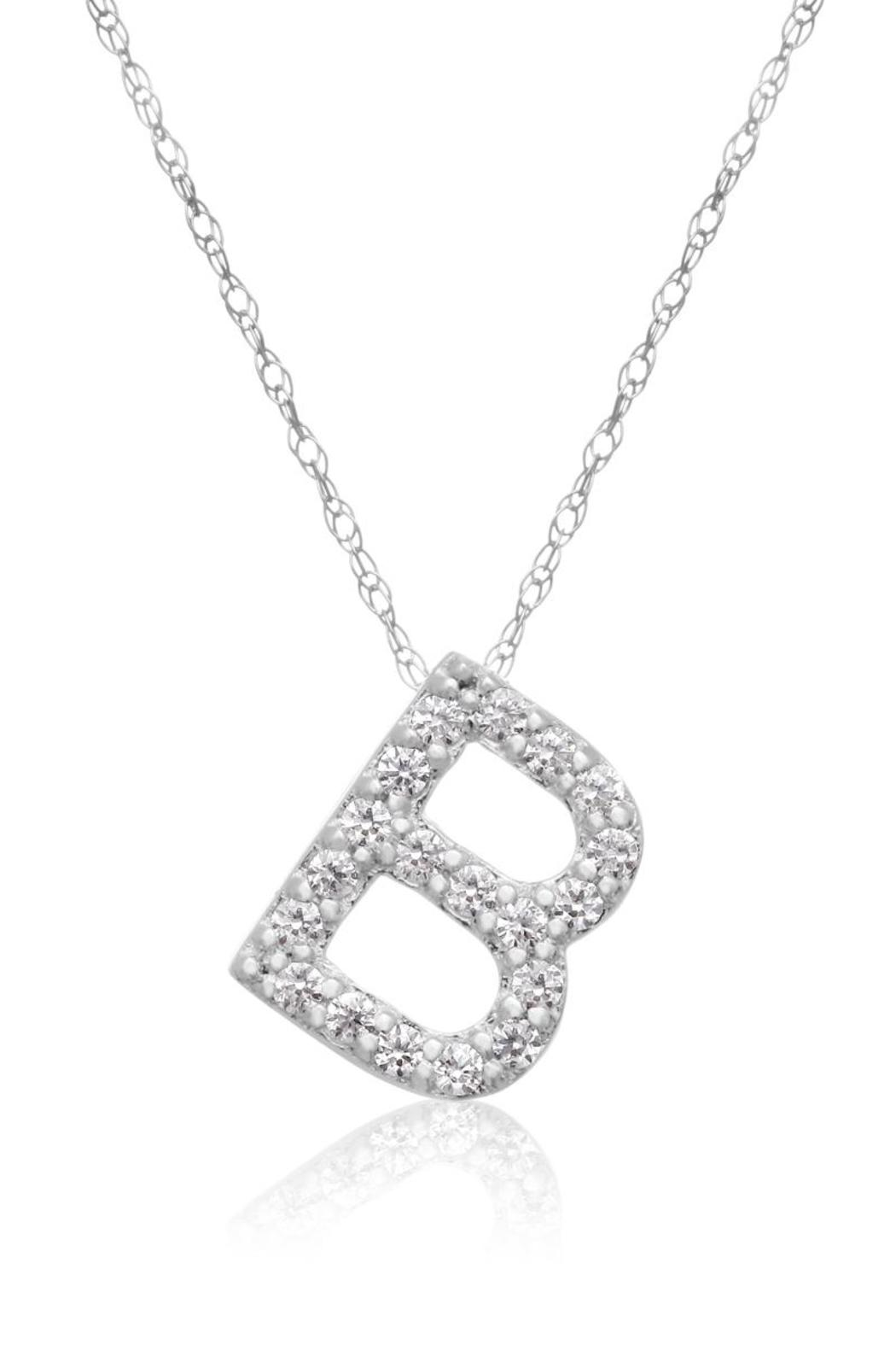 Passiana Block Initial Necklace - Main Image