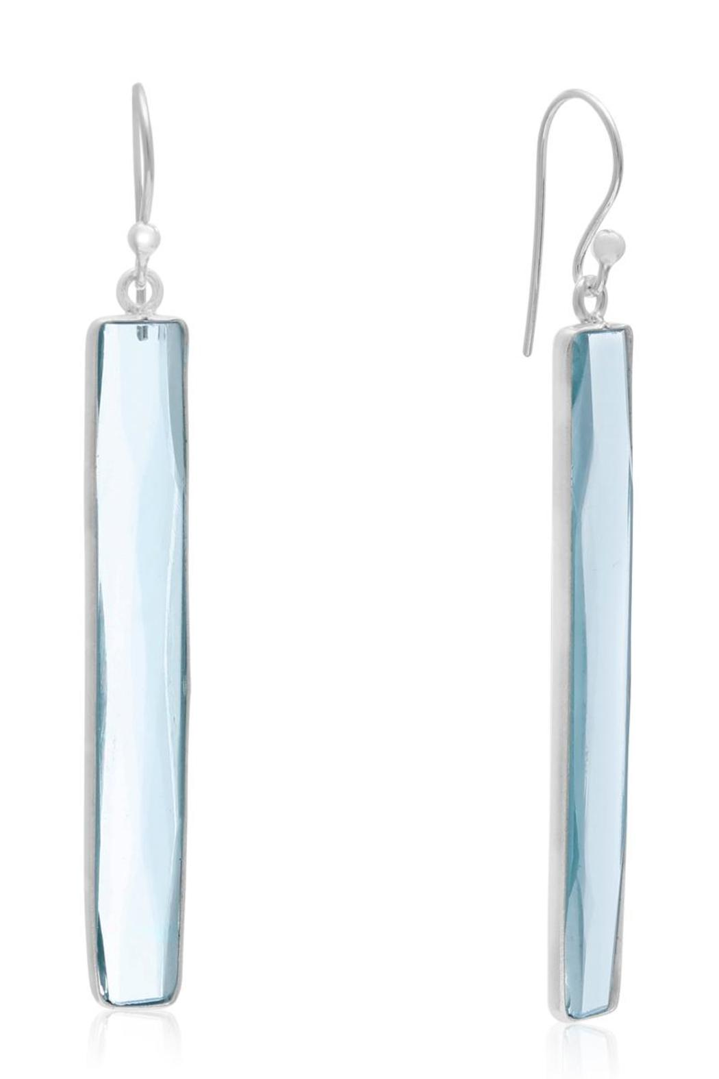 Passiana Blue Topaz Earrings - Front Cropped Image