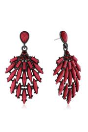Passiana Bordeaux Crystal Earrings - Front cropped