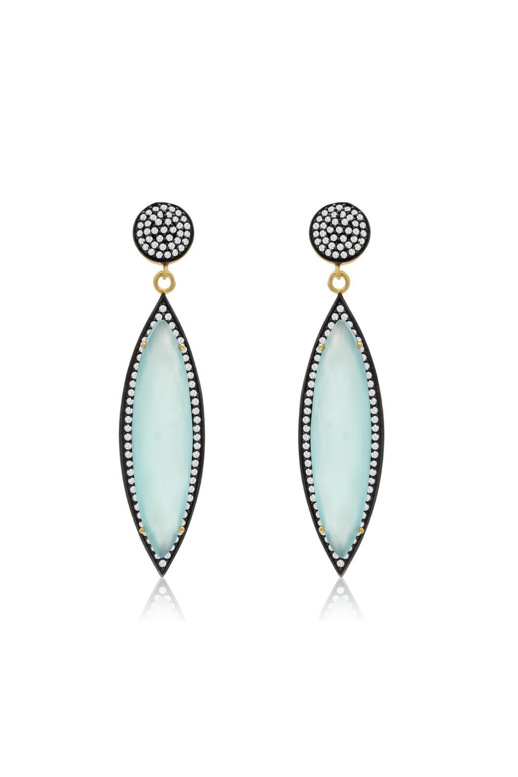 Passiana Chalcedony Marquise Earrings - Front Full Image
