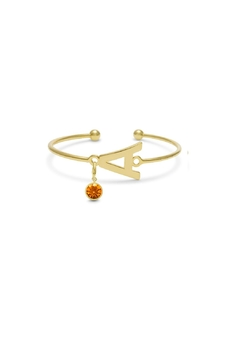 Passiana Citrine Initial Bracelet - Product List Image