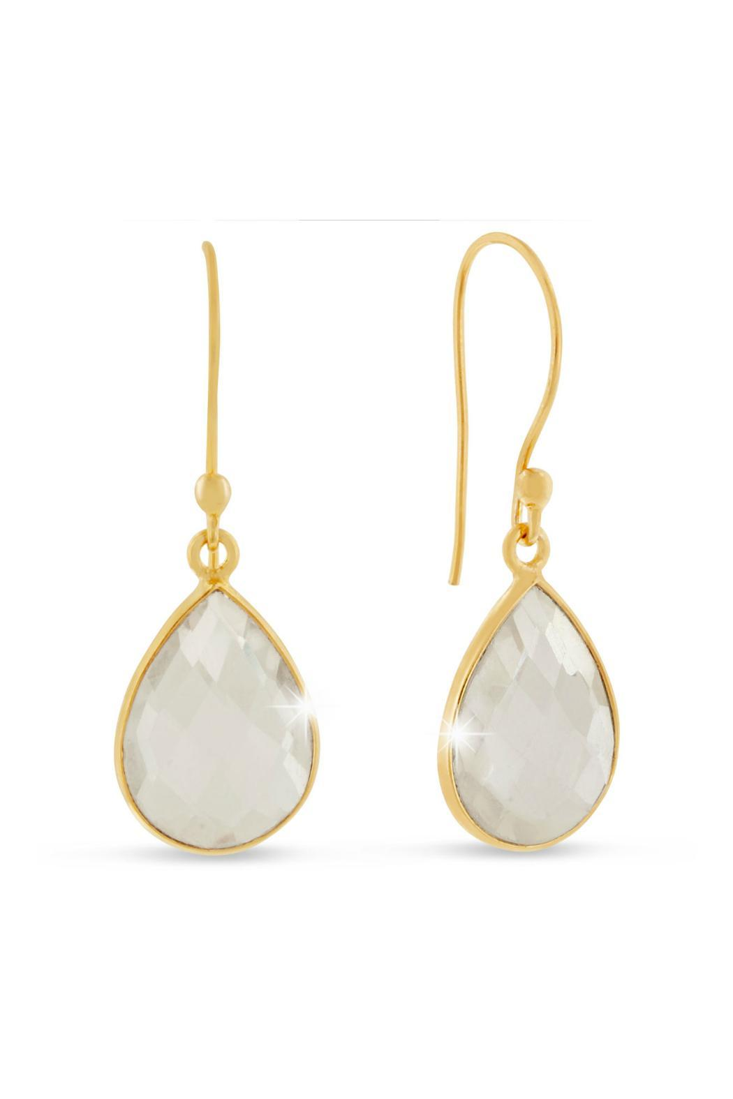 Passiana Clear Quartz Earrings - Main Image