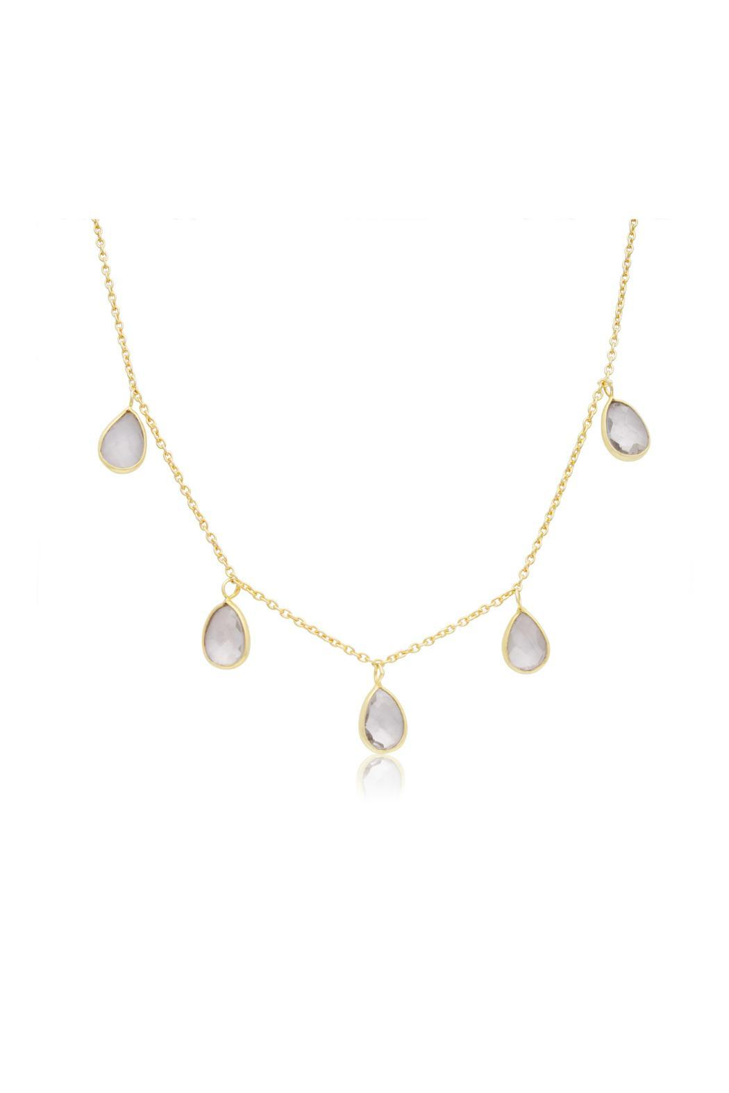 Passiana Clear Quartz Necklace - Front Full Image