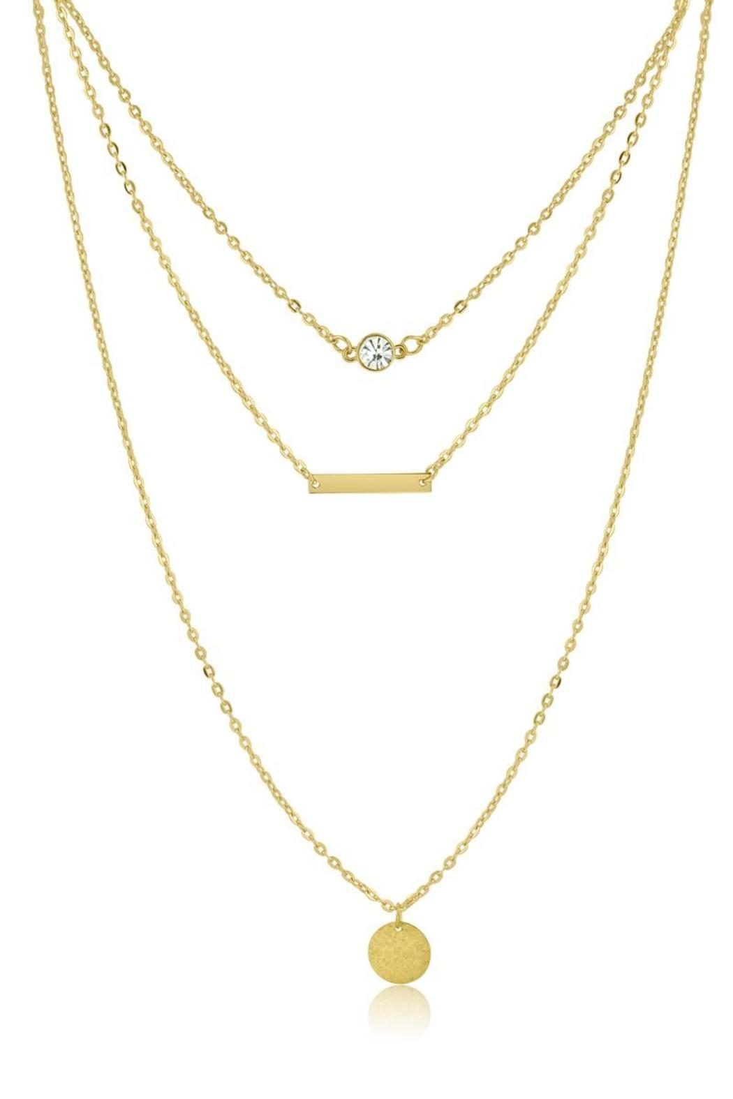 Passiana Dainty Triple Strand Necklace - Side Cropped Image