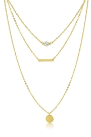 Passiana Dainty Triple Strand Necklace - Side cropped