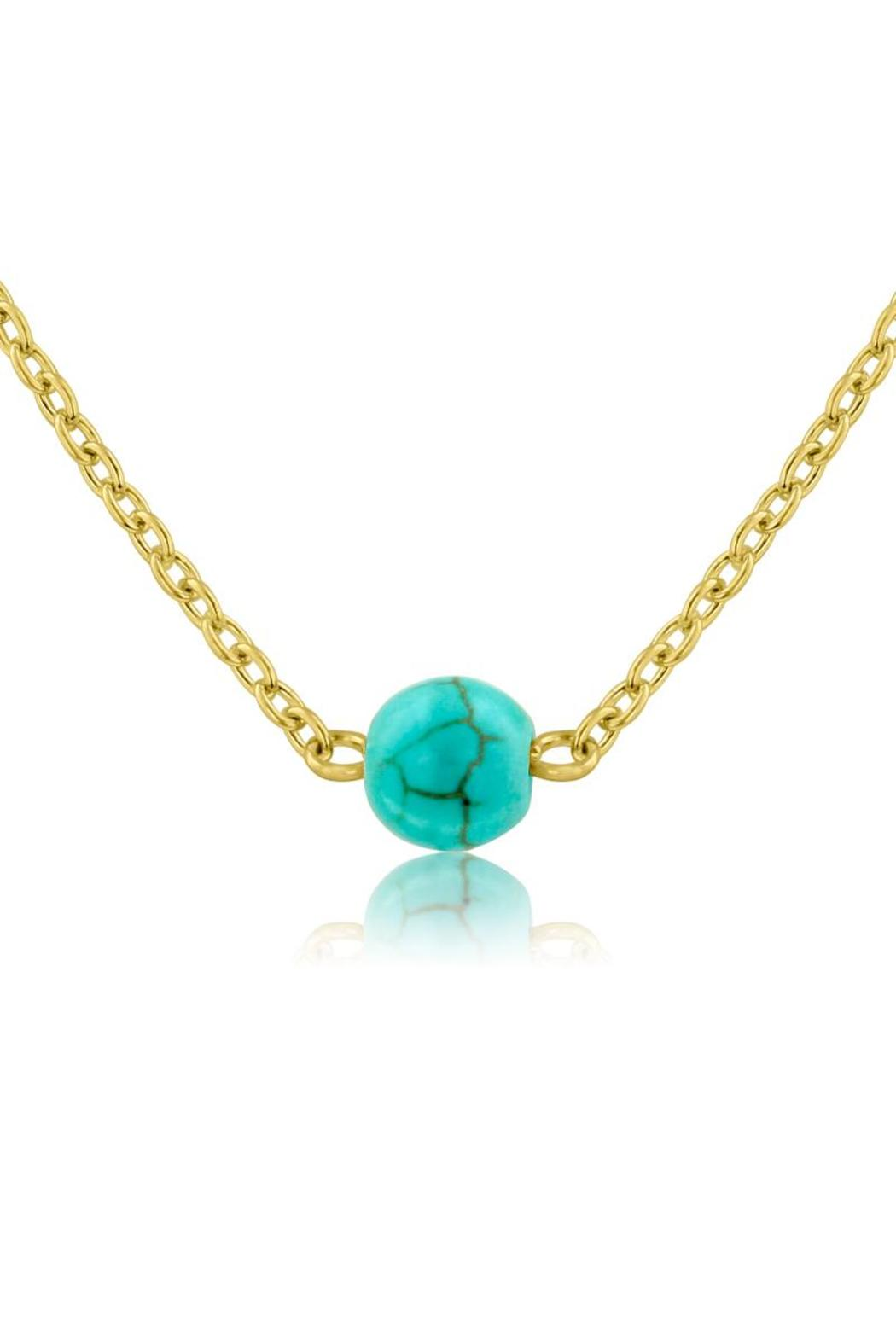 turquoise single mini silver strand silv jewellery accent necklace with