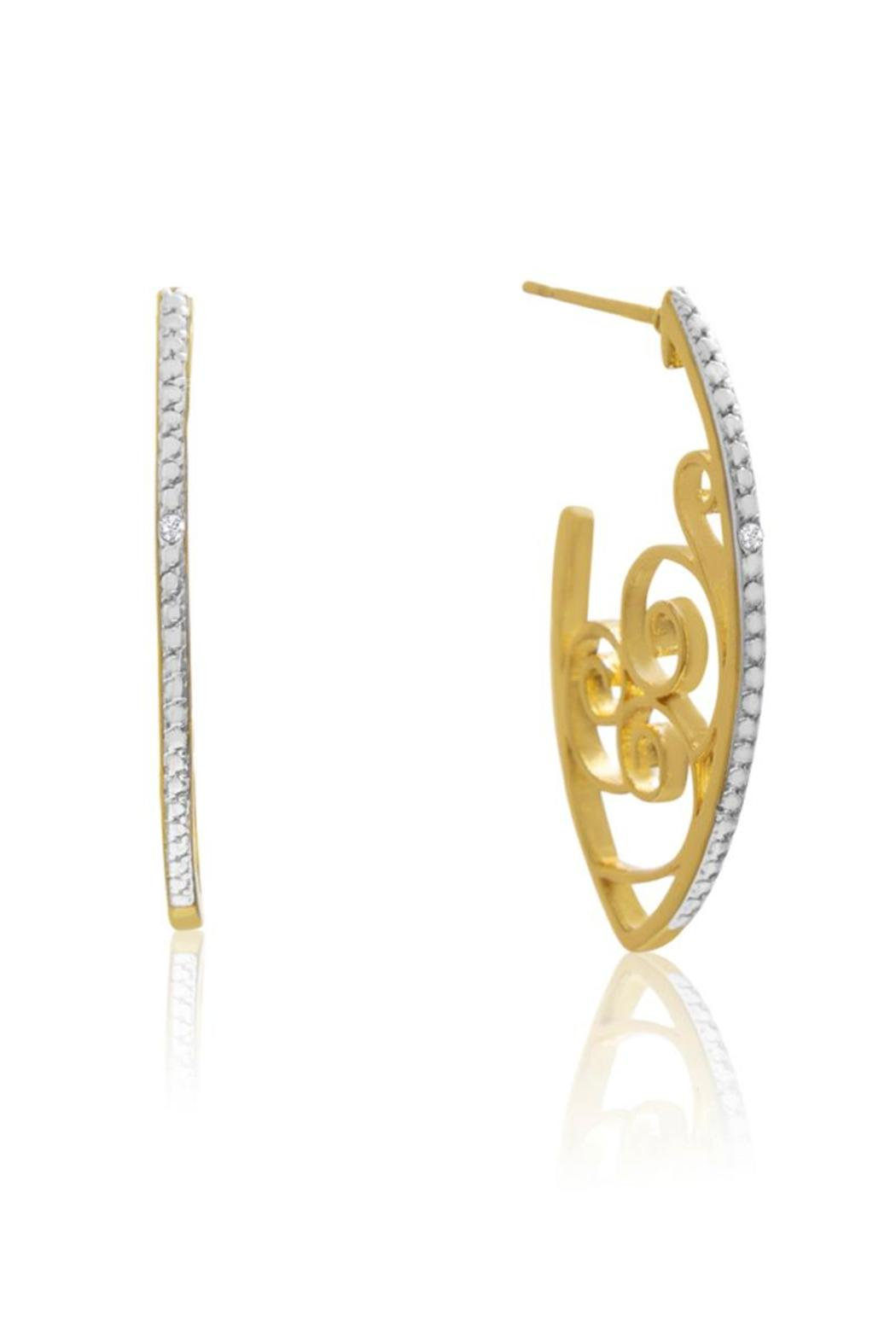 Passiana Delicate Diamond Hoops - Main Image