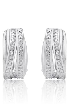 Passiana Diamond Accent Hoops - Product List Image