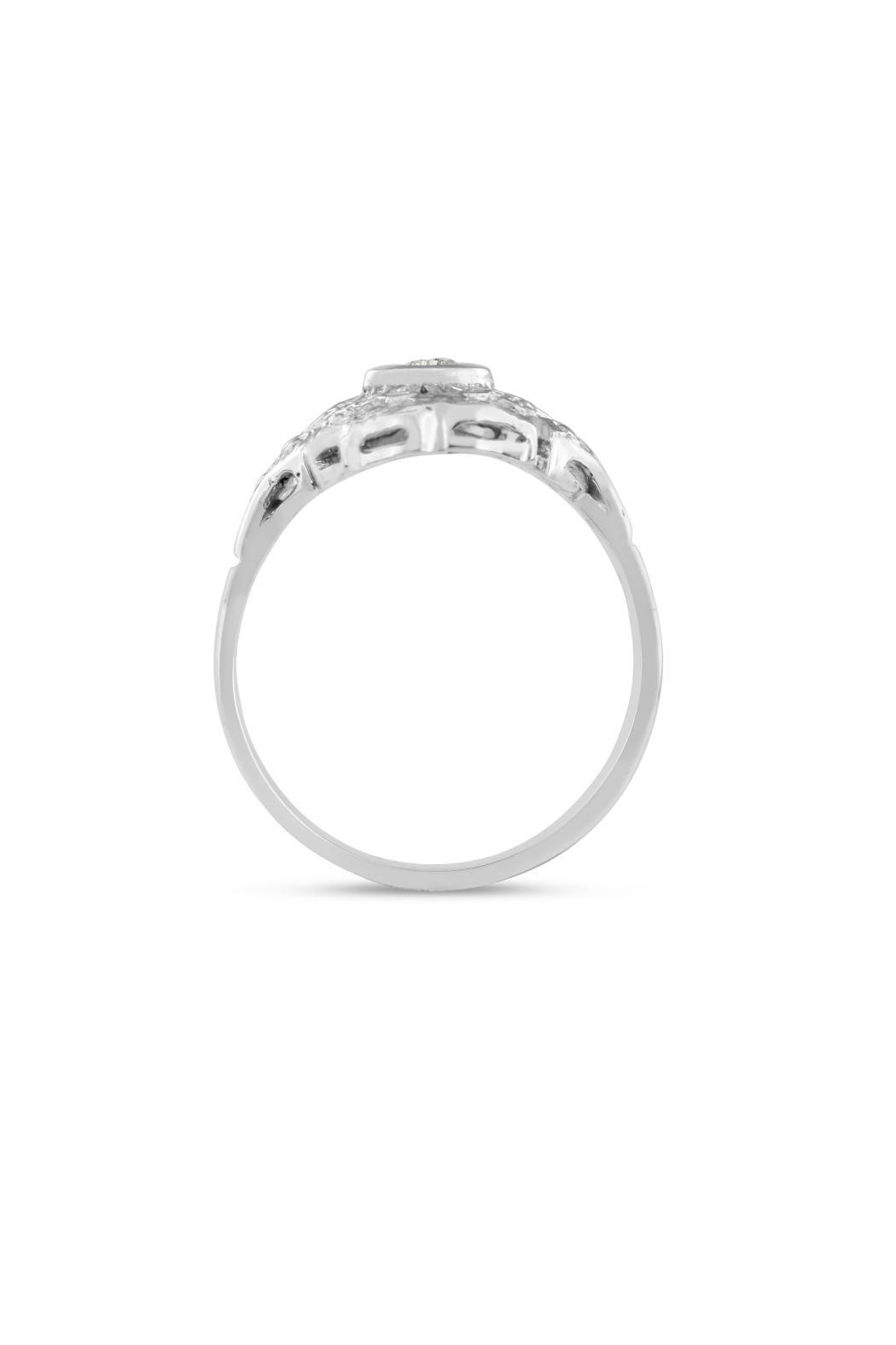 Passiana Diamond Cathedral Ring - Side Cropped Image