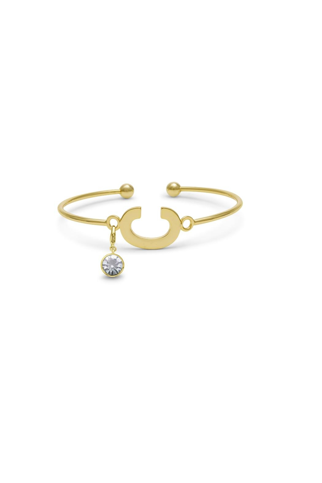 Passiana Diamond Initial Bracelet - Side Cropped Image