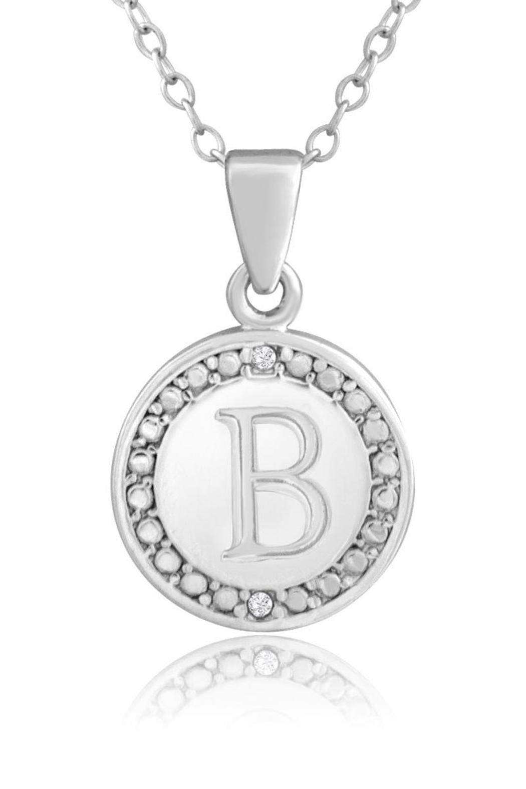 Passiana Diamond Initial Necklace - Front Full Image