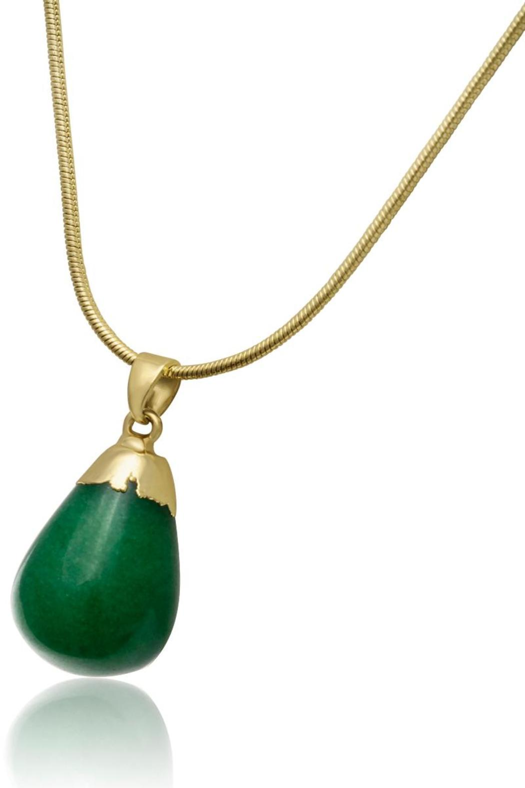 Passiana Dipped Jade Necklace - Front Full Image
