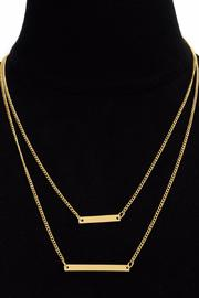 Passiana Double Bar Necklace - Other