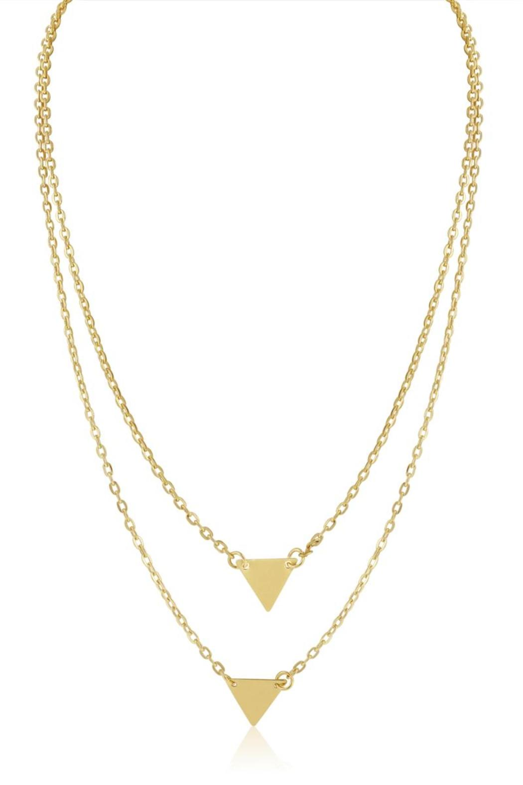 Passiana Double Triangle Necklace - Front Cropped Image