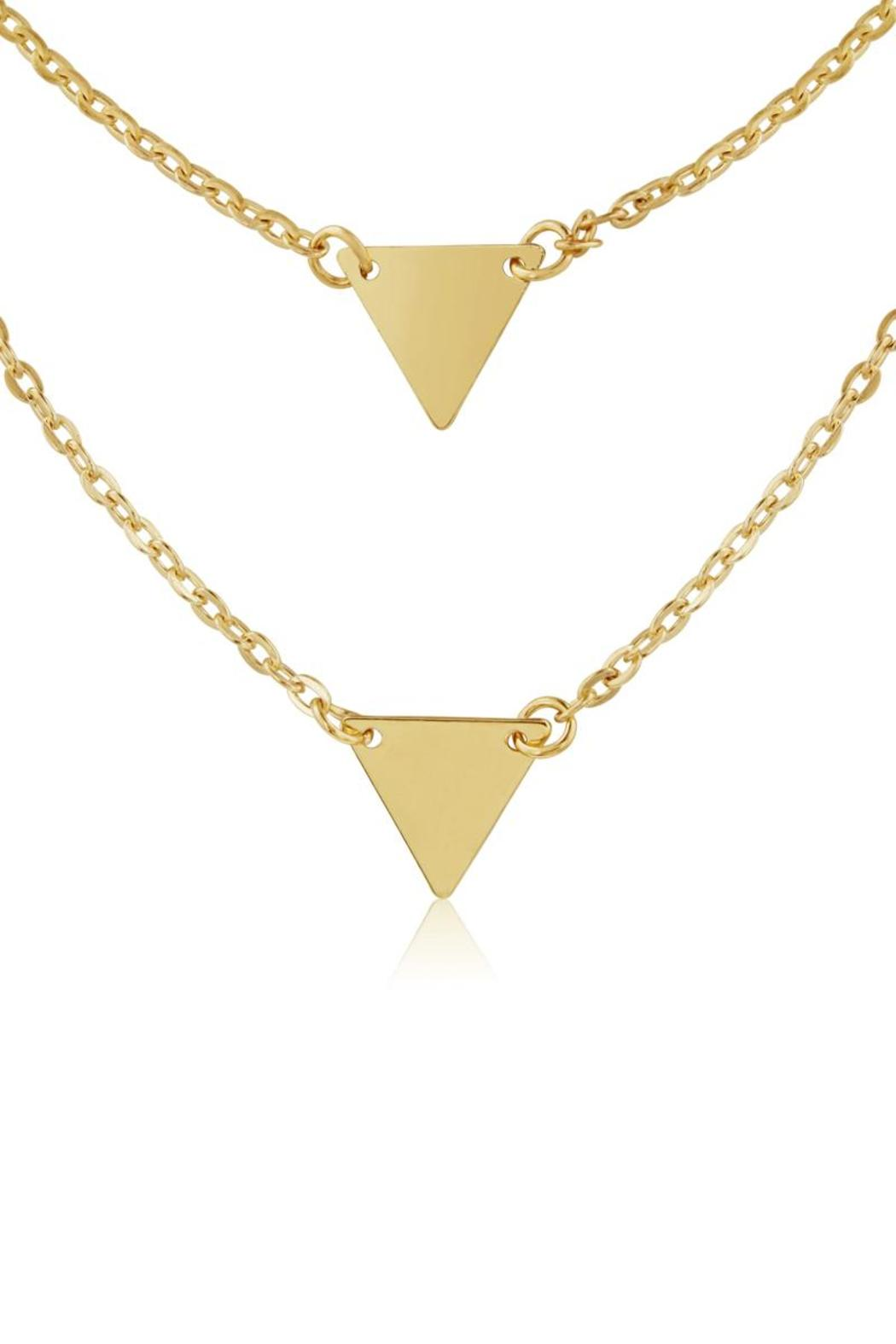 Passiana Double Triangle Necklace - Front Full Image