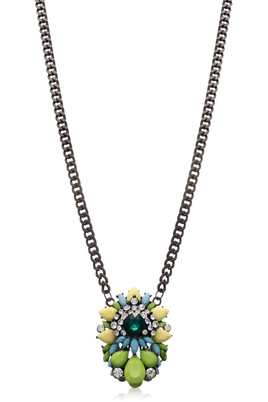 Passiana Emerald Crystal Necklace - Front Full Image