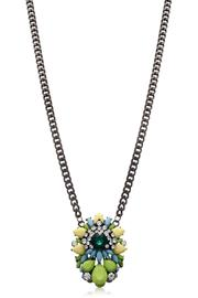 Passiana Emerald Crystal Necklace - Front full body