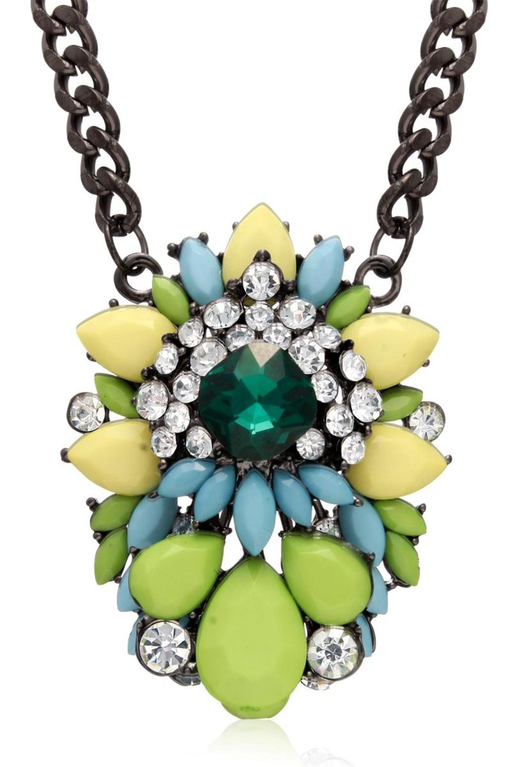 Passiana Emerald Crystal Necklace - Front Cropped Image