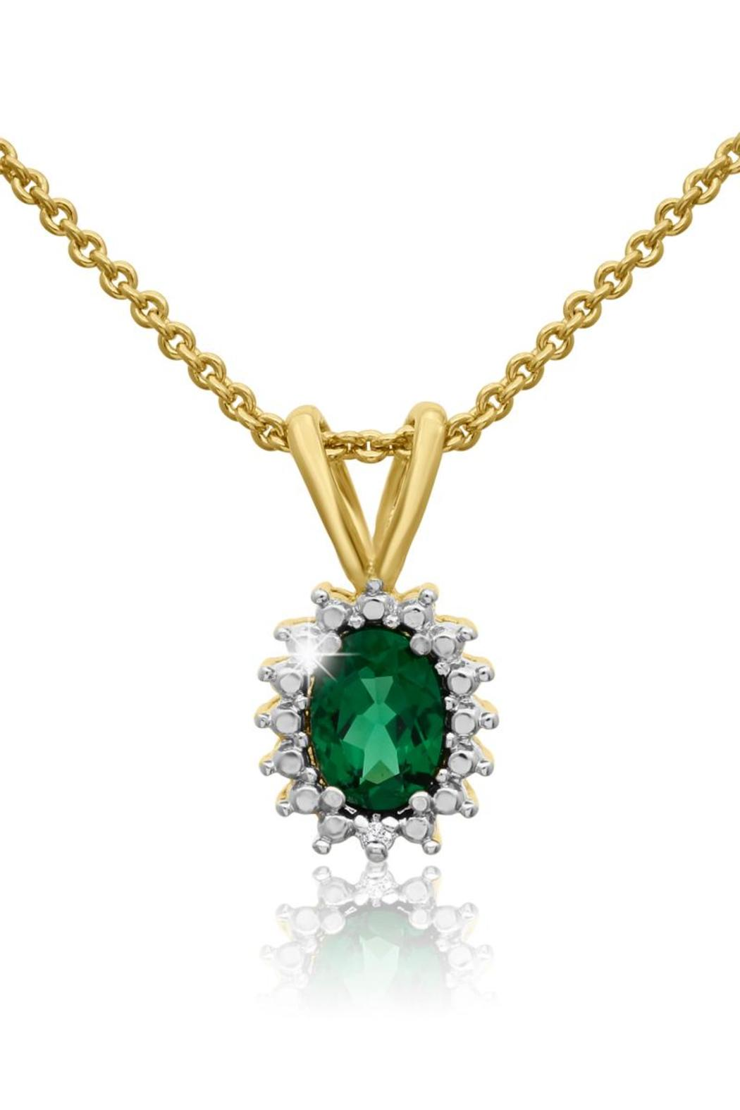Passiana Emerald Halo Necklace - Main Image