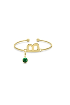 Passiana Emerald Initial Bracelet - Product List Image