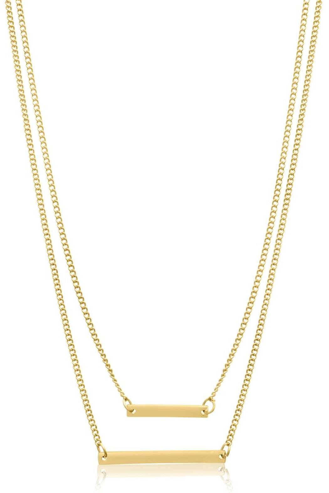 Passiana Gold Bar Necklace - Front Full Image