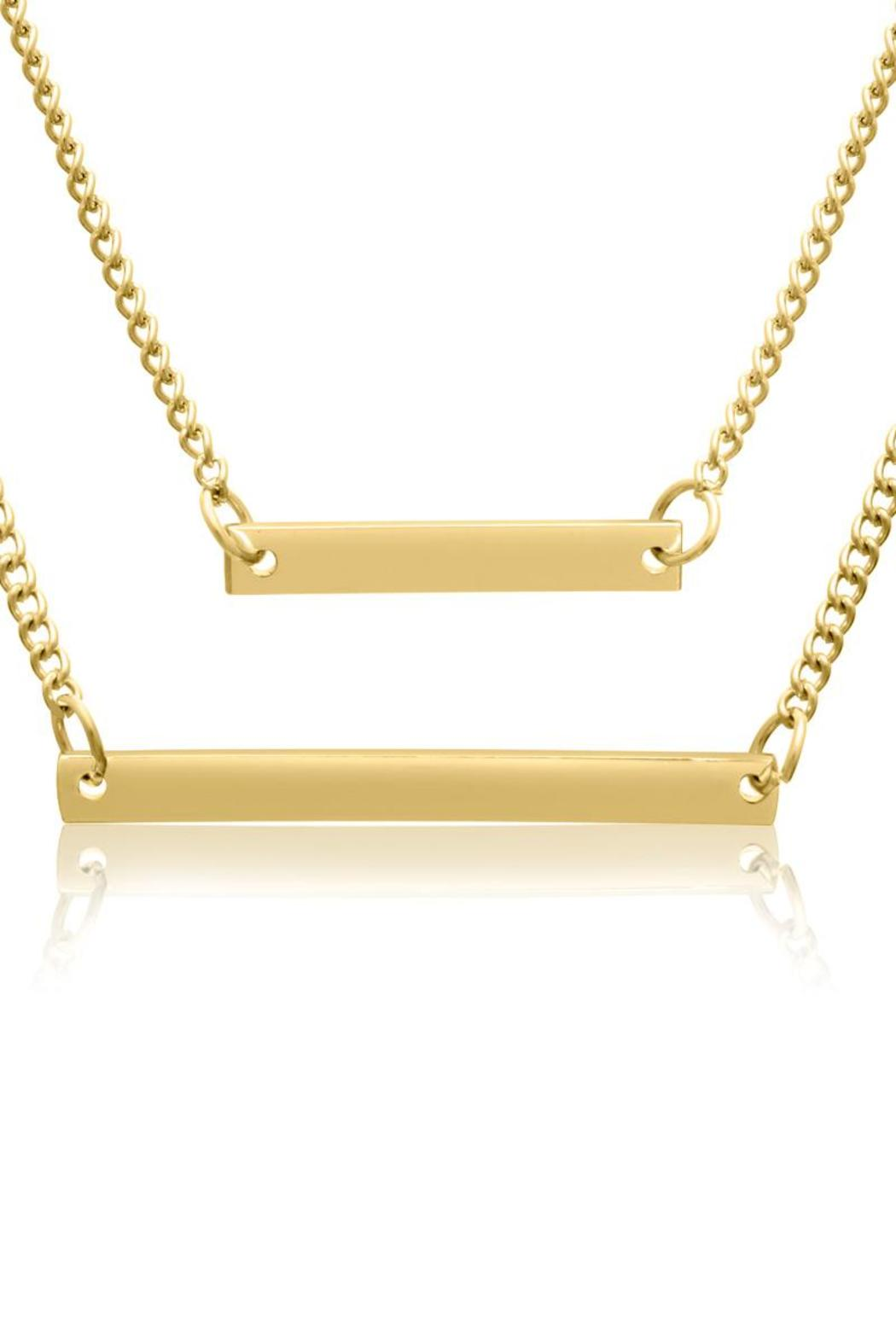 Passiana Gold Bar Necklace - Back Cropped Image