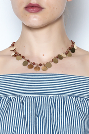 Passiana Gold Cassandra Necklace - Front cropped