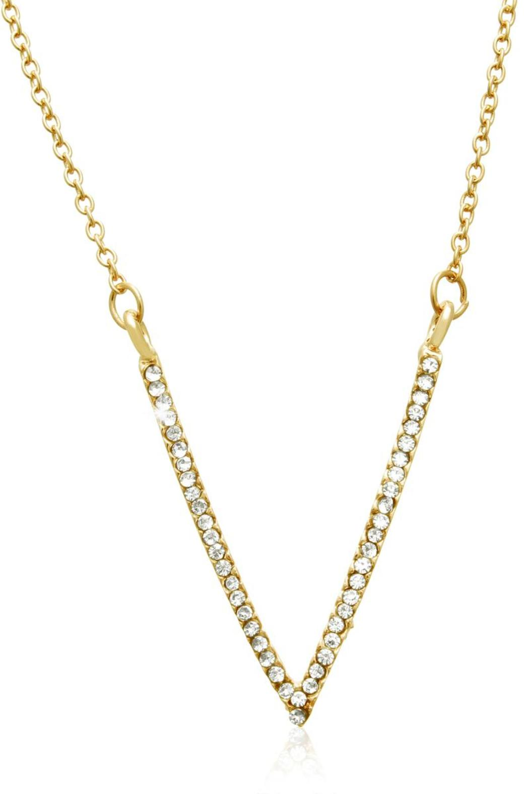 Passiana Gold Crystal Necklace - Main Image