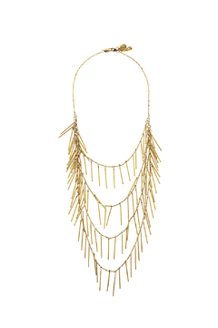 Passiana Gold Fringe Necklace - Product List Image