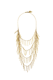 Passiana Gold Fringe Necklace - Product Mini Image