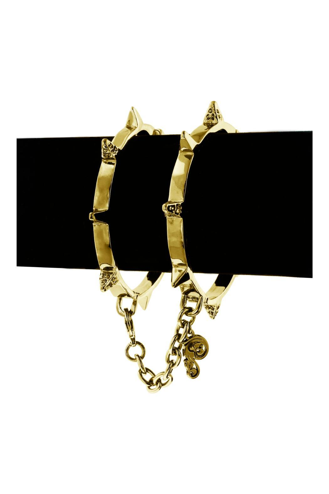 Passiana Gold Handcuff Bracelet - Back Cropped Image