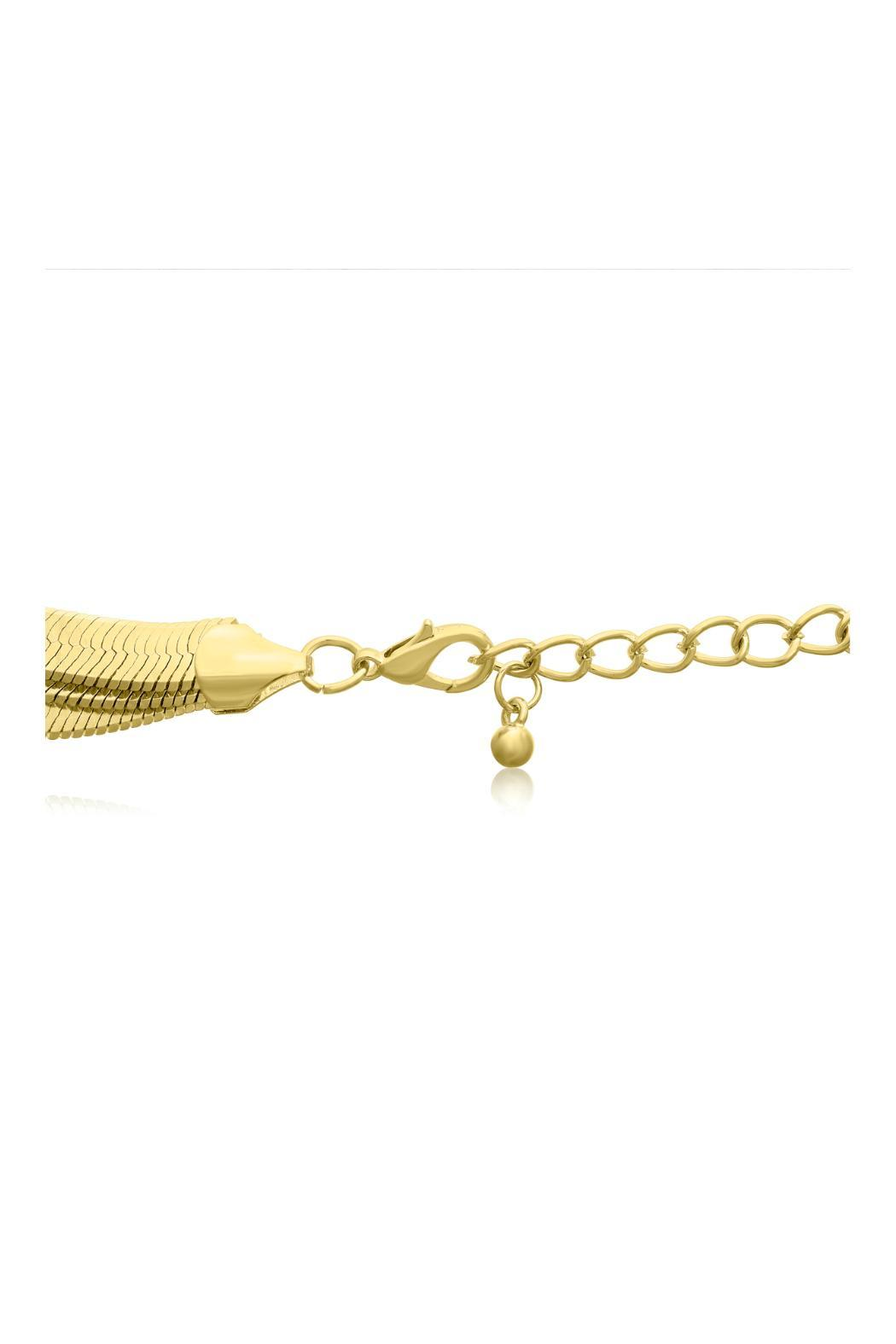 Passiana Gold Herringbone Necklace - Side Cropped Image