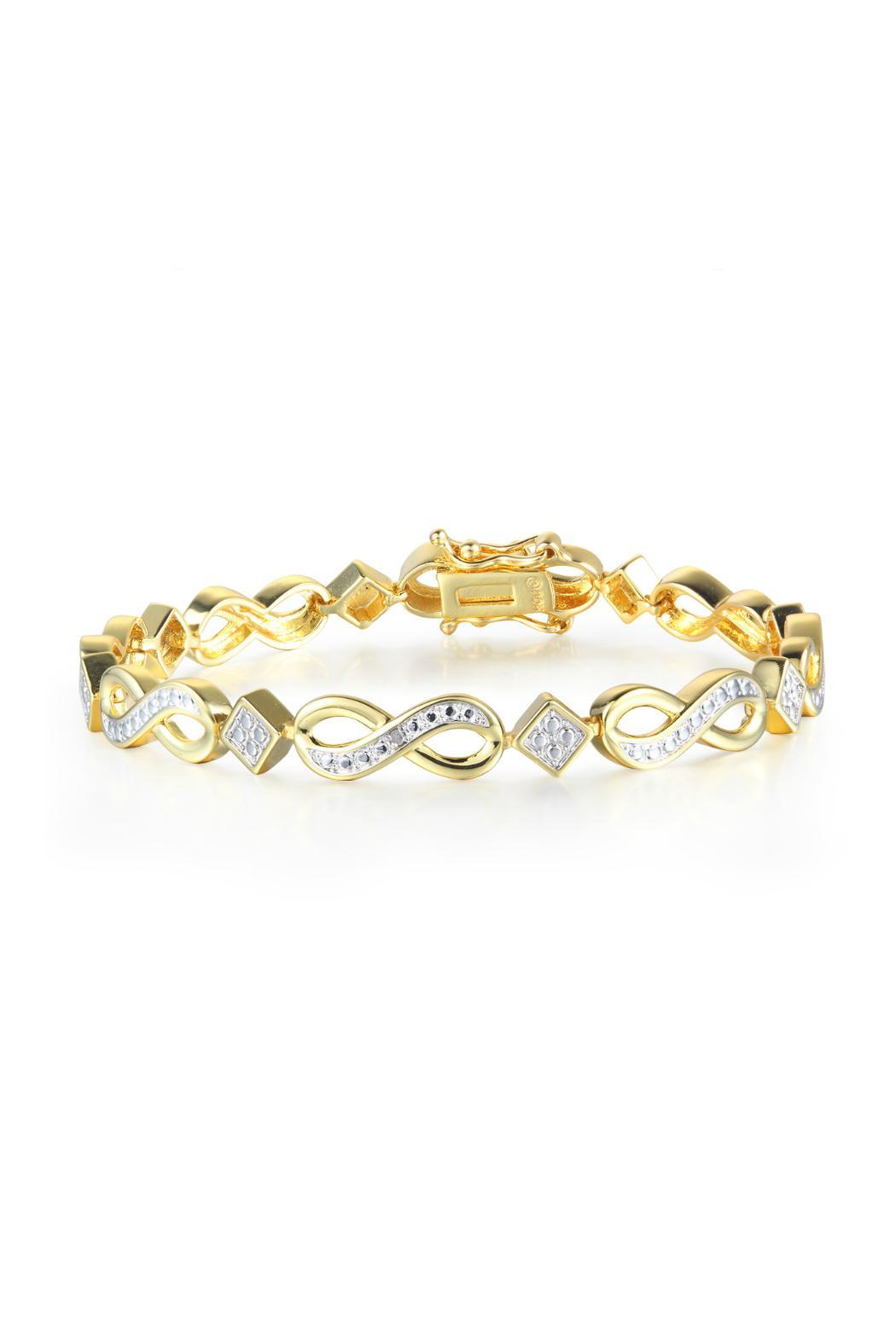 Passiana Gold Infinity Bracelet - Front Cropped Image