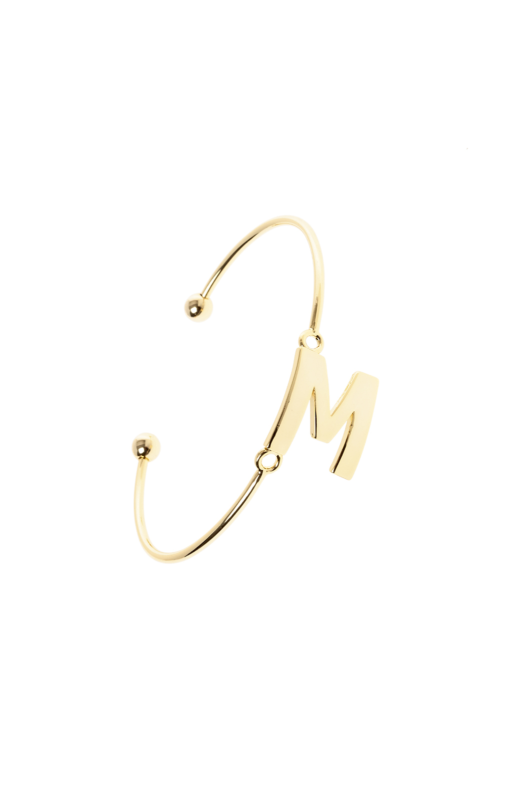 Passiana Gold Initial Bangle - Front Cropped Image