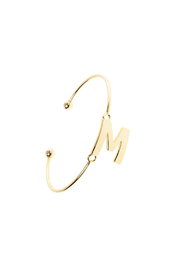 Passiana Gold Initial Bangle - Front cropped