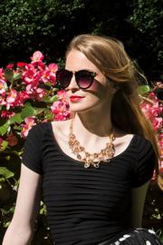 Passiana Gold Nut Necklace - Side cropped