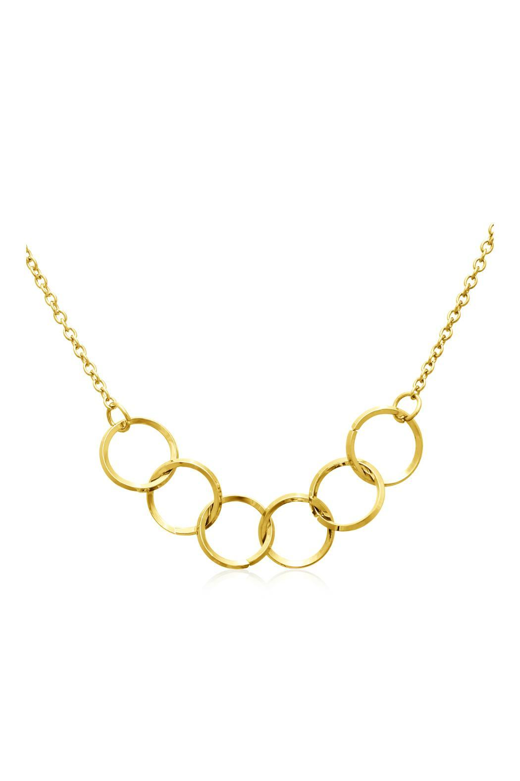 Passiana Gold Ring Necklace - Front Full Image