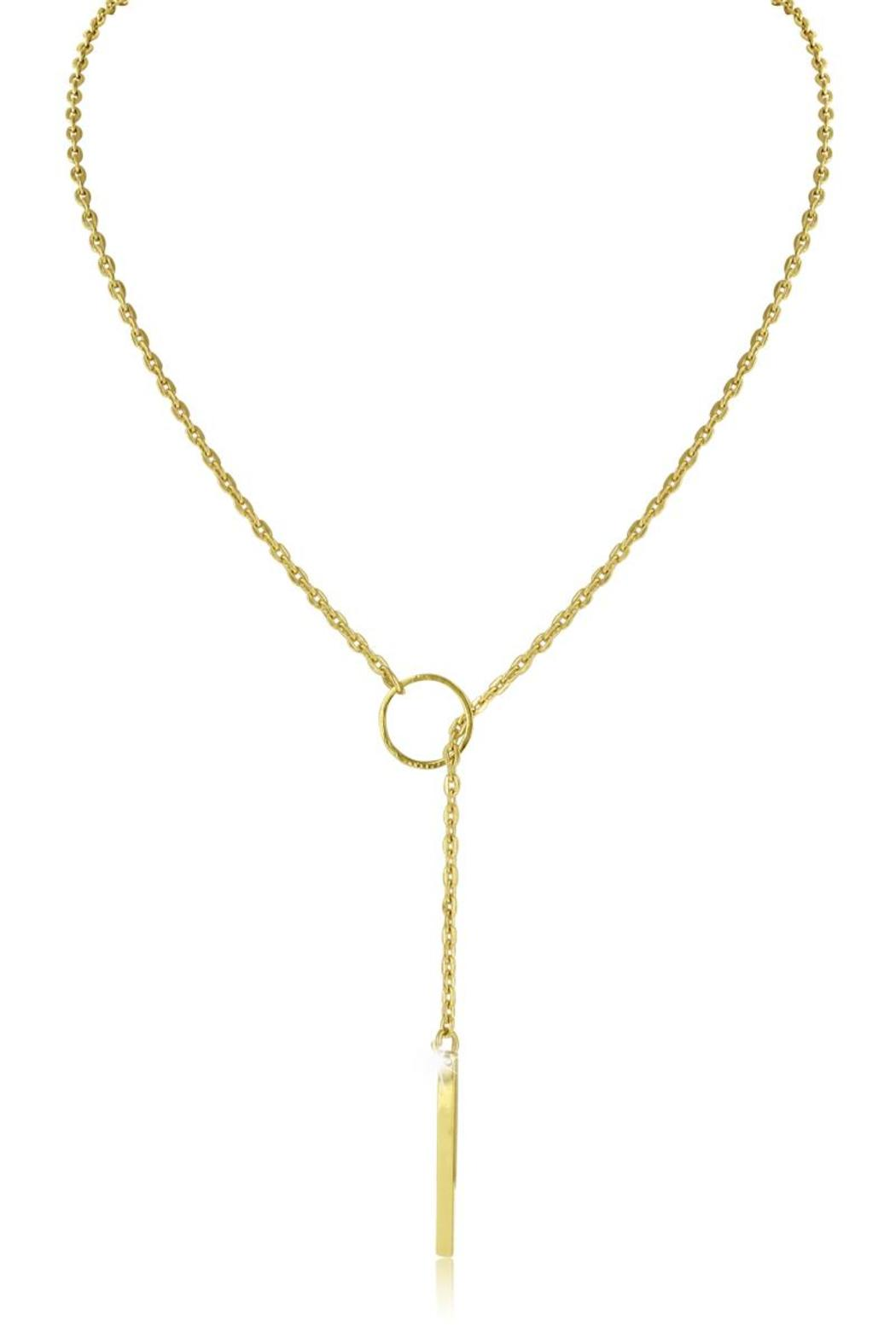 Passiana Gold Signature Lariat - Front Cropped Image