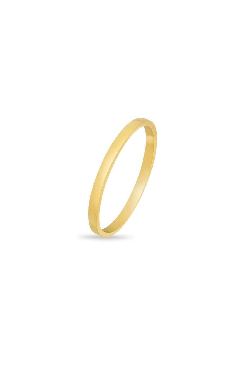 Passiana Gold Stackable Ring - Front Full Image