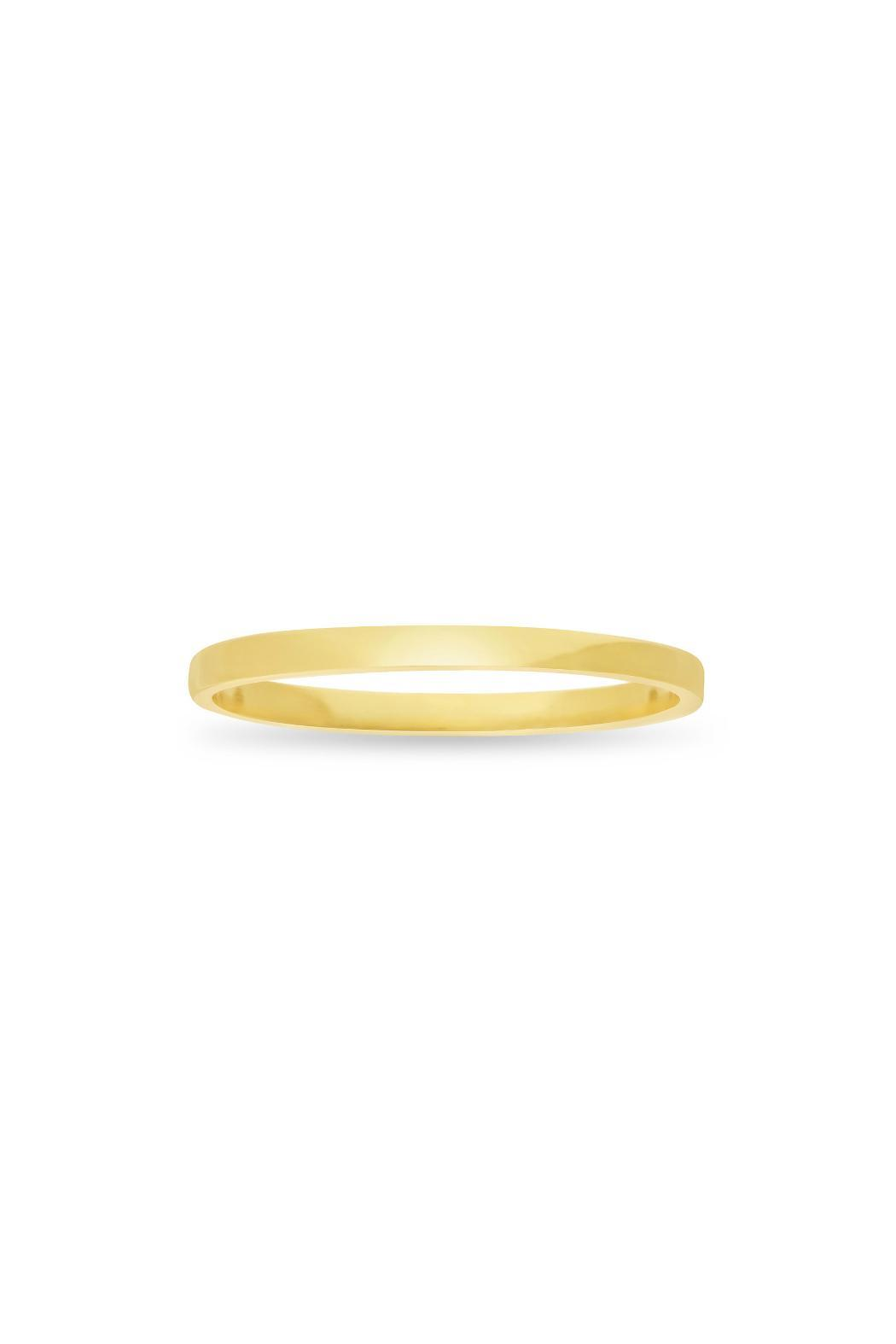 Passiana Gold Stackable Ring - Side Cropped Image