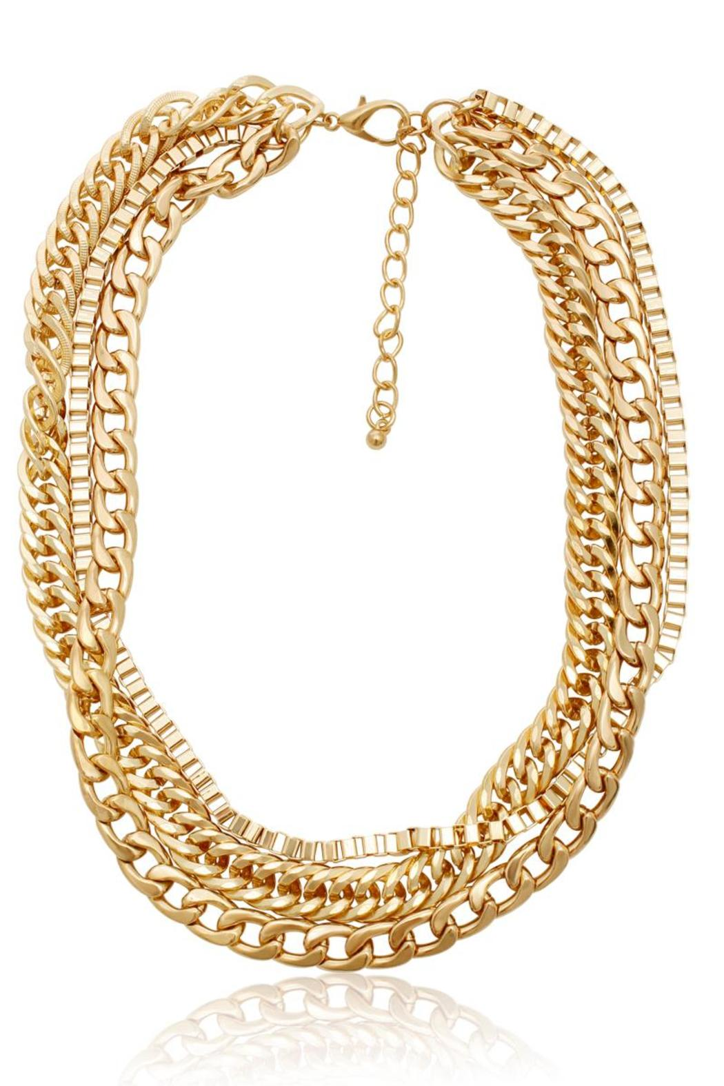 Passiana Gold Triple Chain Necklace - Main Image